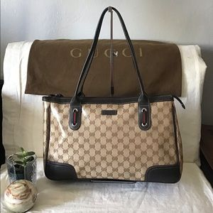 GUCCI  GG Crystal Coated Canvas Princy Tote